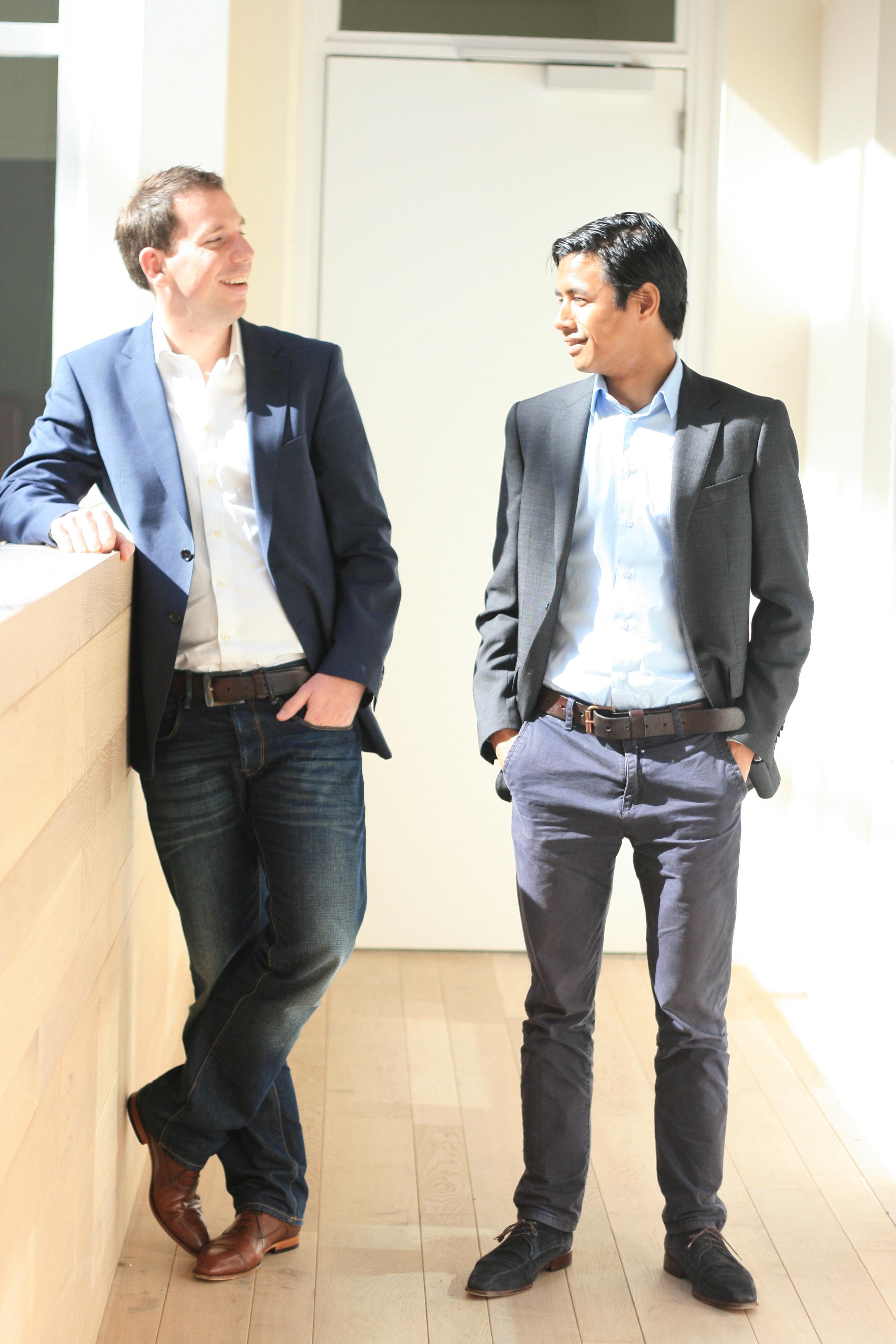 Marcel van der Heijden (links) en Mark Metekohy