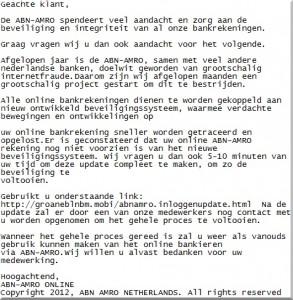 e-mailtekst phishingbericht