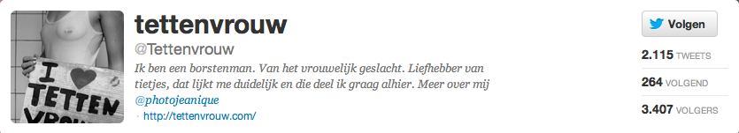 Twitterbio Tettenvrouw