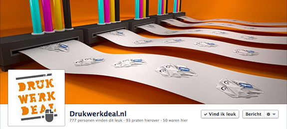 Drukwerkdeal Facebook actie