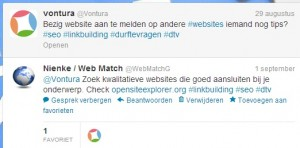 Twitter communicatie