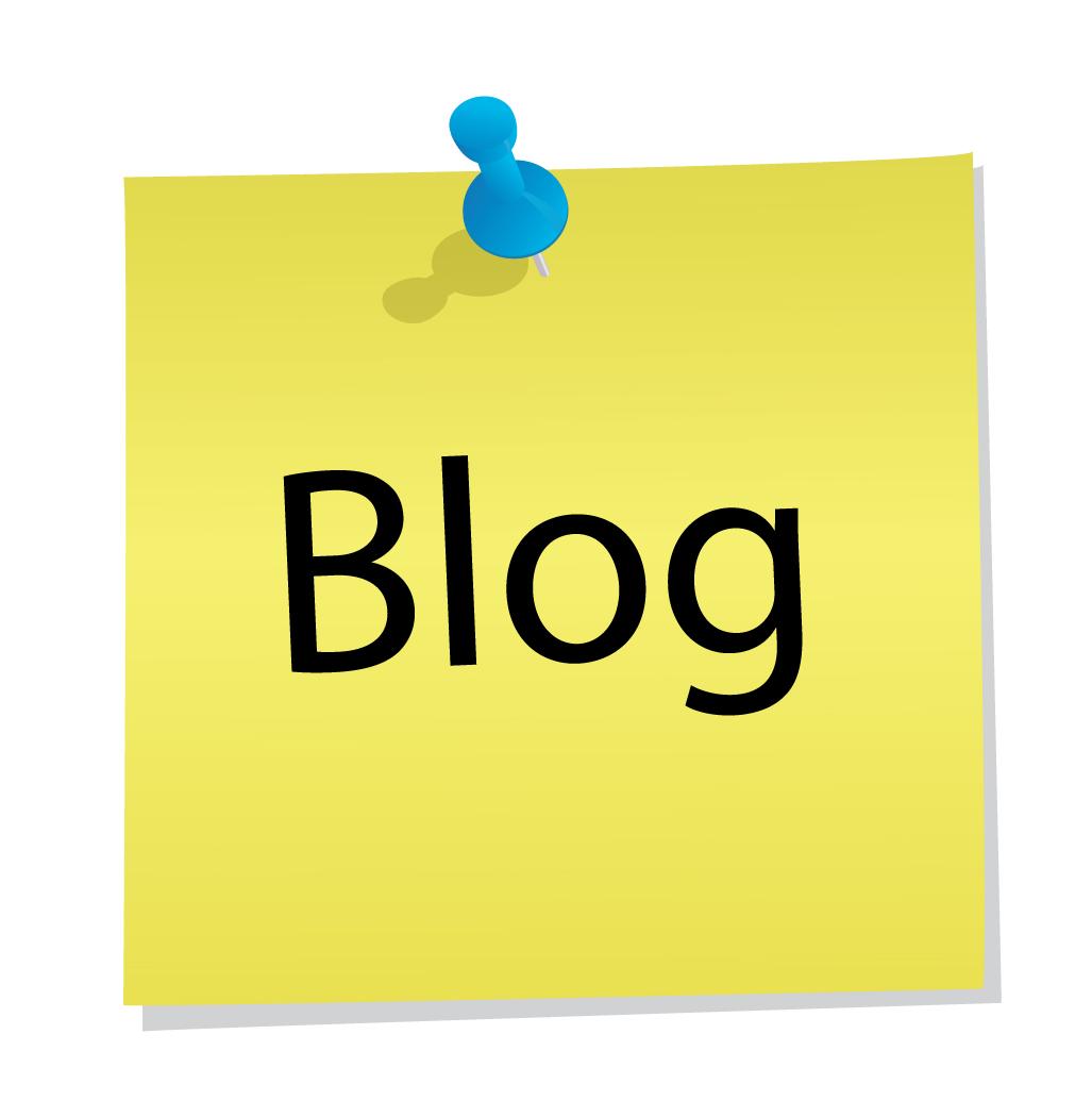 post-it met et woord 'blog'
