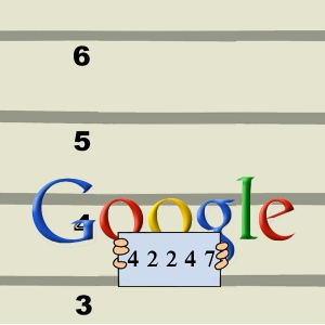 The Google Logo, just after apprehension
