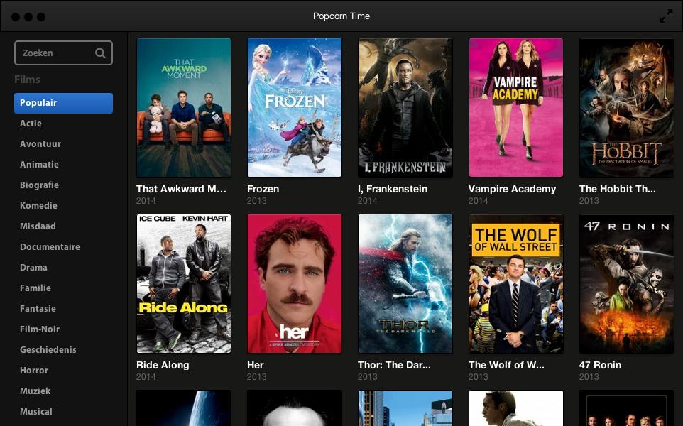 Popcorn Time Downloaden - Direct gratis HD films kijken