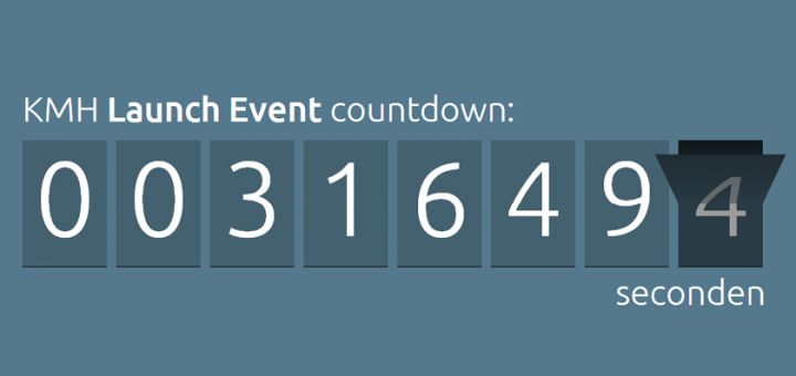 KMH launch event countdown