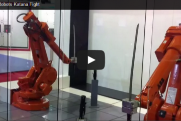 Watch This Mesmerizing Katana Fight Between Two Robots   Nerdist
